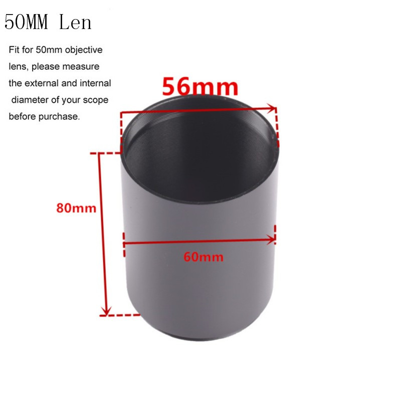 Metal Tactial Scope Sunshade Tube Shade For Rifle Scope With 40mm Or 50mm Objective Lens Sun Shade Pistol Airsoft Caza