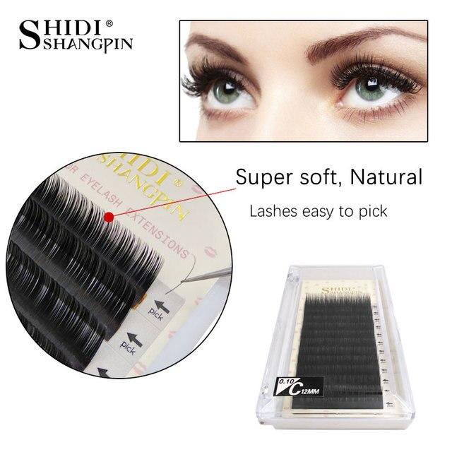 364e5d7e42e SHIDISHANGPIN lash extension thick individual lashes B C D Curl 8-13mm false  eyelashes natural individual eyelash