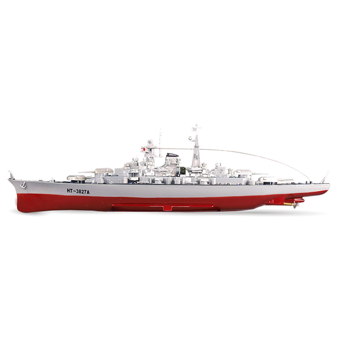 Hot 71cm 1:360 RC Military Battleship RC Cruiser Warship Toy <font><b>Control</b></font> Military RC Boat Destroyer Model Toys Best Gifts - US Plug image