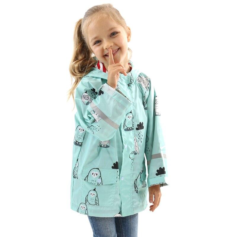 2019 Cute Small Waterproof Rain Coat Animal Print Boy Children Girls Windproof Lined Poncho Kindergarten Student Baby Raincoat|Raincoats| |  - title=