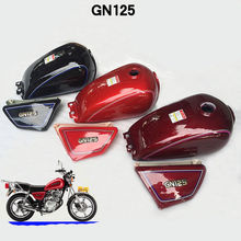 Motorrad Vintage 9L Cafe Racer Tank Vintage Kraftstoff Gas tank Für SUZUKI GN125 HJ125 8
