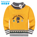 2017 Spring and Autumn New Fashion 100% Cotton Solid Color Pullover Cartoon Turtleneck Collar Kid Child Sweater Children Sweater