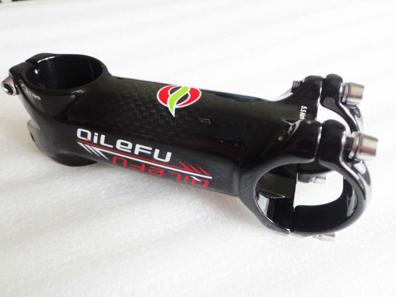 Nejnovější slitiny horských kol QILEFU + karbonové stonky karbonových stonků karbonové stonky MTB části jízdních kol 31.8 * 60/70/80/90/100/110 / 120mm Doprava zdarma