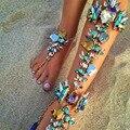 Flor Pulsera de Tobillo Para Vacaciones de Playa Sandalias Sexy Pierna Cadena de Mujeres Boho de Tobillera Joyería Declaración