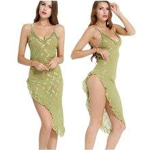 3dab8df405 Women s Nightgowns   Sleepshirts Sexy Lingerie Temptation Green Dress Soft  Night Sleepwear Bathrobe Sexy Underwear Sexy Uniform