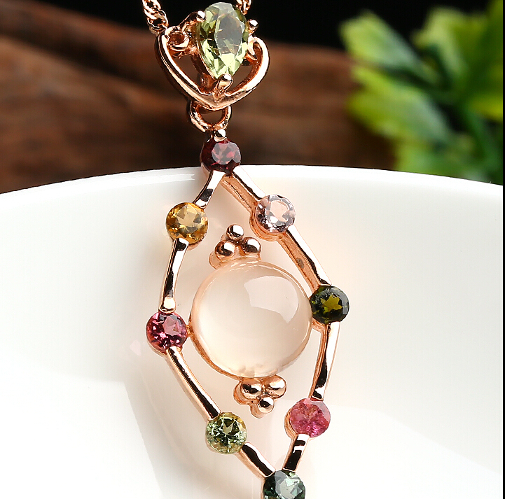 Pure 925 Sterling Silver Crystal colourful Pendant With CertificatePure 925 Sterling Silver Crystal colourful Pendant With Certificate
