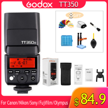 цена Godox TT350 Flash 1/8000s GN36 2.4G Wireless TTL HSS Mini Flash Speedlite XPro X1T for Canon Nikon Sony Fuji Olympus DSLR Camera онлайн в 2017 году