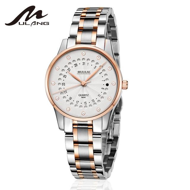 New Women's Watch Luxury Brand Rotating Calendar Quartz Wristwatches Women's Rhinestone Starry Rose Steel Watch relogio femenino 3