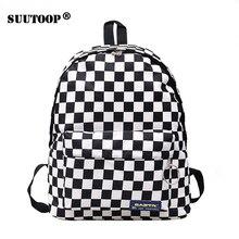 Унисекс клетчатый нейлоновый женский рюкзак для путешествий рюкзак для ноутбука школьные сумки для книг Feminina школьный повседневный рюкзак женская сумка Rugzak