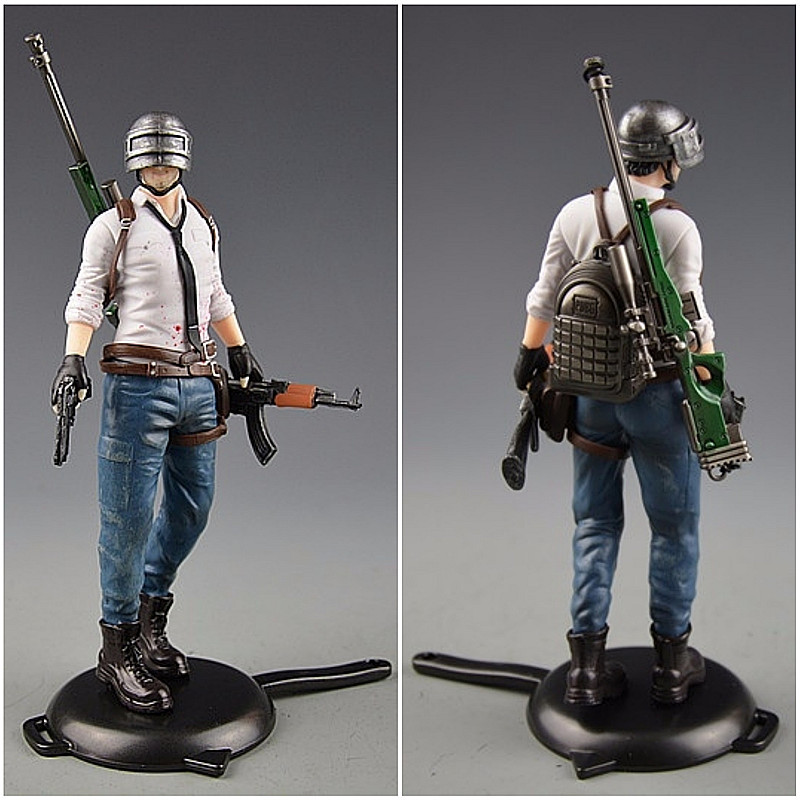 Playerunknowns Battlegrounds  PUBG Around 6 inch doll figure spot to eat chicken tonight Metal Fashion Car Weapon model 12Style 4