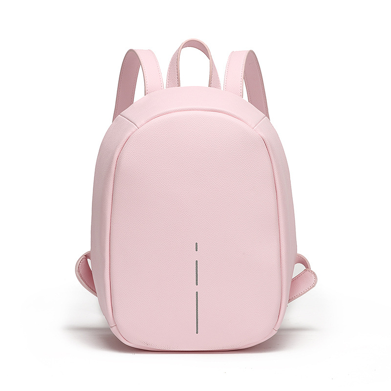 Anti Theft Backpack Women Daily Reflective Stripe High Quality PU Leather Backpack Small Lady School Bagpack For Female