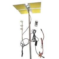 12V DC 4 Boards LED Fishing Rod Lights 5Meters Fishing Pole White color COB Camping Light Street Garden Novelty Lighting