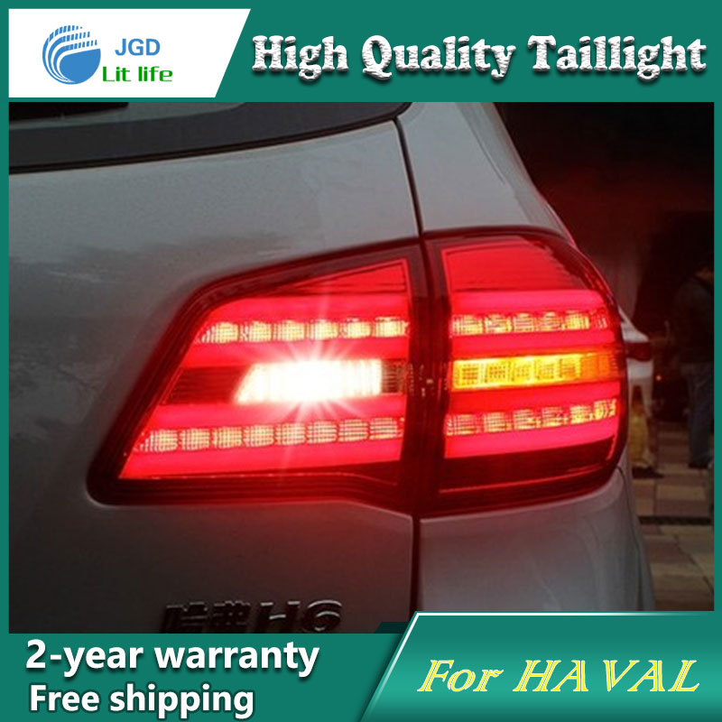Car Styling Tail Lamp for HAVAL H6 Tail Lights LED Tail Light Rear Lamp LED DRL+Brake+Park+Signal Stop Lamp car styling tail lamp for toyota corolla led tail light 2014 2016 new altis led rear lamp led drl brake park signal stop lamp