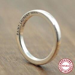 S925 ayar gümüş yüzük kişiselleştirilmiş klasik moda stil basit pürüzsüz çift yüzük basit takı göndermek sevgilisi hediye