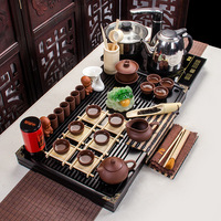 Yixing tea set tea poly Sen wood Kung Fu tea special offer wholesale four generation of electromagnetic oven