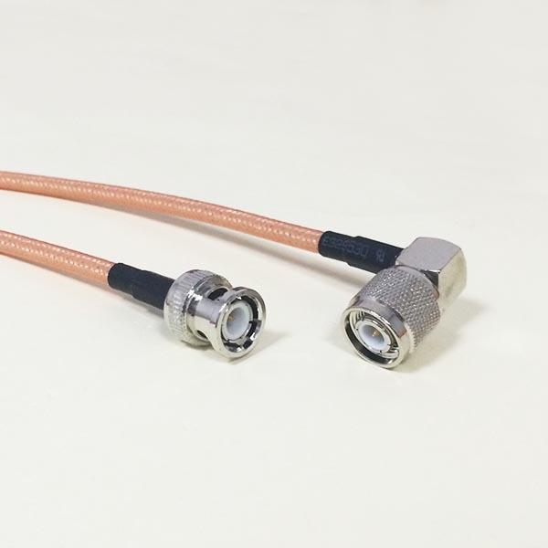 цены  High quality low-attenuation BNC Male Plug Switch TNC Right Angle Male Plug RF jumper cable RG142 50CM 20