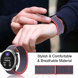 Image 3 - Nylon Loop Woven Strap For Garmin vivoactive3 HR Smart Watch Wearable Wrist Bracelet For Garmin Forerunner 645 music Watchband