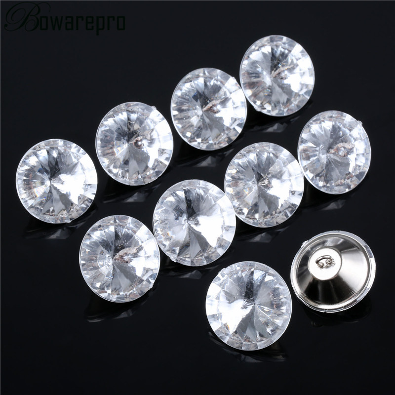 10PCS <font><b>30MM</b></font> Acrylic Rhinestone Diamond <font><b>Buttons</b></font> Tufting Sofa Upholstery Headboard Wall Decor Headboard Wedding Diamond Buckles NEW image