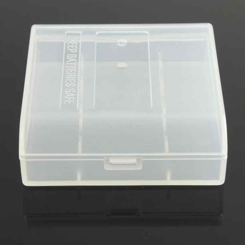 CARPRIE 2018 nouveau plastique dur blanc batterie boîte de rangement pour 4x14500/AAt batterie claire boîte de rangement livraison directe #30