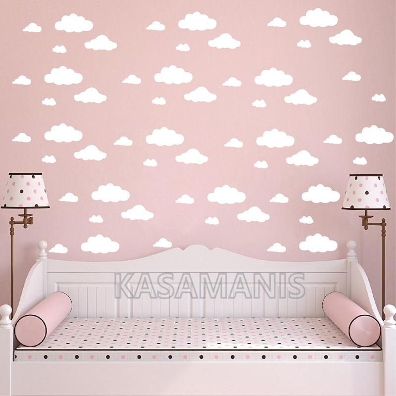cartoon clouds  Wall Stickers Kids Room