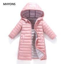 Mhyons 2018 moda menina jaquetas crianças outono inverno quente casaco roupas criança com capuz fino algodão-acolchoado meninos jaqueta crianças casaco