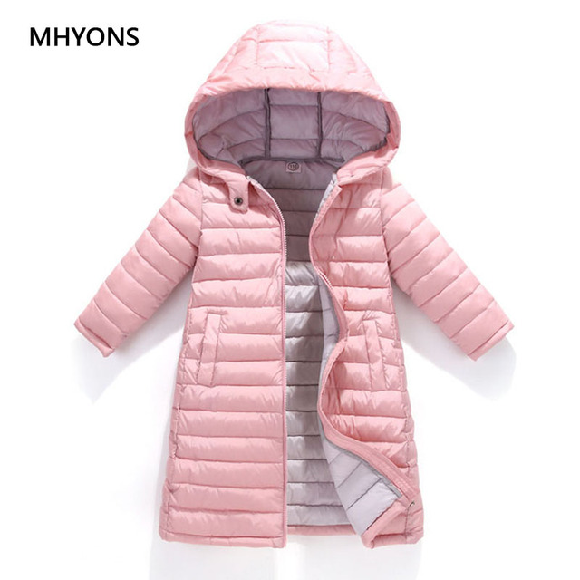 Flash Sale MHYONS 2018 Fashion Girl Jackets Children's Autumn Winter Warm Coat Clothing Kid Hooded Thin Cotton-padded Boys Jacket Kids Coat