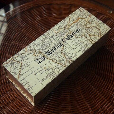 haste de madeira em linha arte da palavra caneta verde