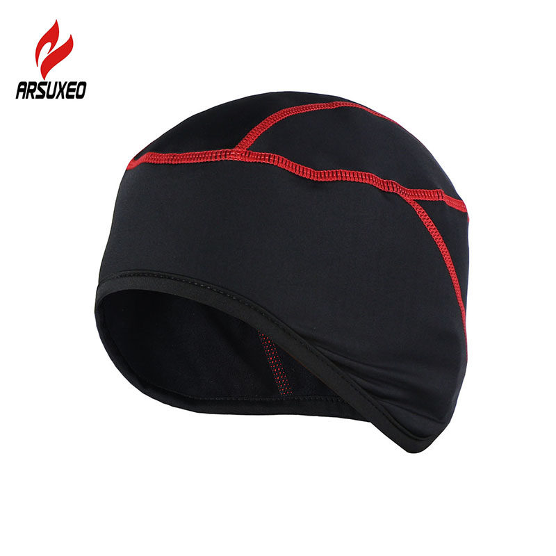 ARSUXEO Winter Warm Up Fleece Cycle Cycling Caps MTB Bike Bicycle Hats Sports Running Caps