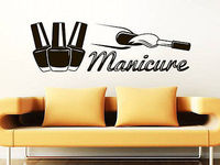 Cosmetics Manicure Vinyl Wall Decal Beauty Salon Nails Varnish Hands Mural Art Wall Sticker Removeable Nail