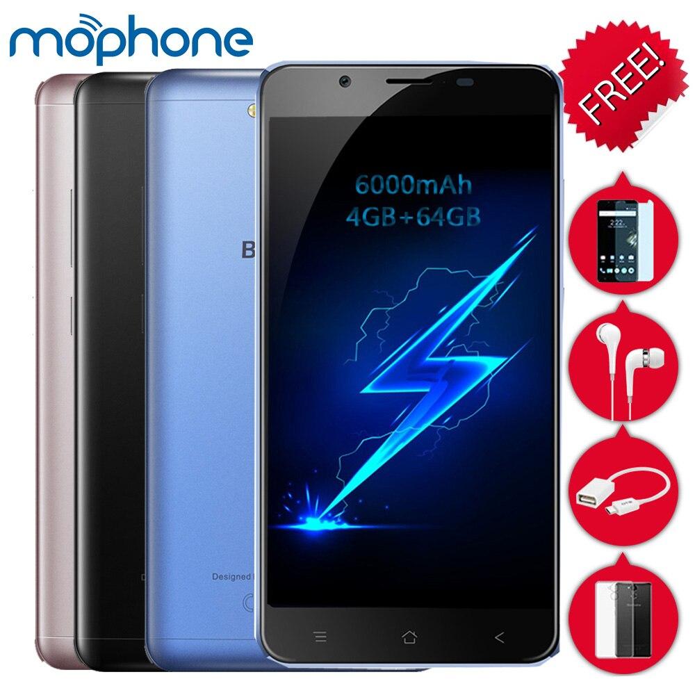 "Цена за Blackview p2 4 г смартфон 5.5 ""1080*1920 пикселей mtk6750t octa core 4 ГБ + 64 ГБ android 6.0 13.0mp + 8.0mp 6000 мАч батареи мобильного телефона"