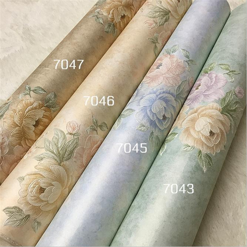 high quality modern non-woven wallpaper Europe flower minimalist wall mural living room bedroom background wallpaper home decor free shipping basketball function restaurant background wall waterproof high quality stereo bedroom living room mural wallpaper