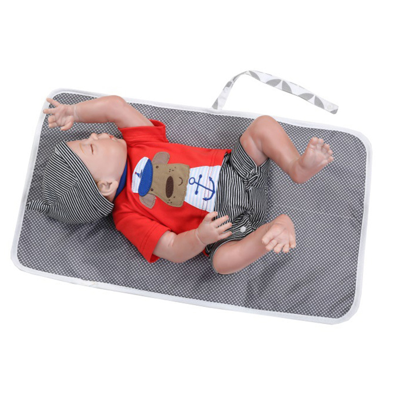 Купить с кэшбэком Baby Changing Mat Portable Foldable Washable Travel Diaper Changing Pad Waterproof Mattress Baby Floor Mat Play Mat Baby Care