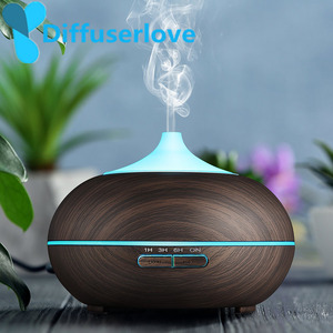 Image 1 - Diffuserlove מגניב ערפל אדים 300ml בצבע עץ Usb קולי ארומה חיוני שמן מפזר עבור משרד חדר שינה סלון