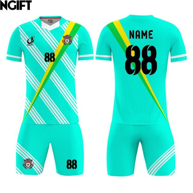 69d7a79921e Ngift 2018 Kids Adult Soccer Jersey,fully sublimation custom soccer jersey  Football Kit Men child Futbol Training,MOQ 1pcs