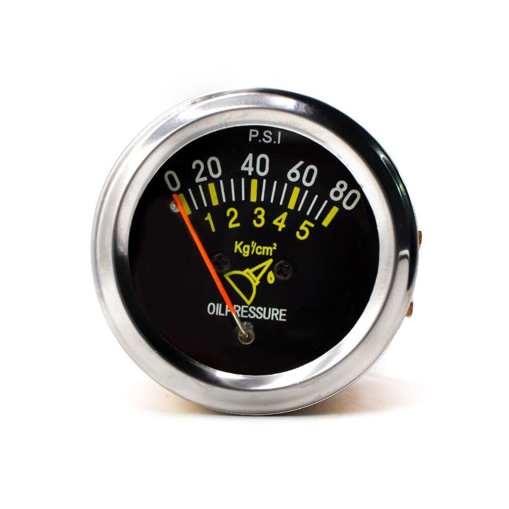 CNSPEED 52 мм 2 дюйма механический автомобиль 0-80 PSI датчик давления масла Автомобильный датчик метрический стол YC101133