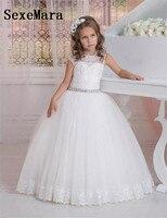 หมวกแขนบอลชุดชุดสาวดอกไม้สำหรับงานแต่งงานคริสตัลลูกไม้T Ulle Jewelสาวพรรคชุดสวยร่วมชุด