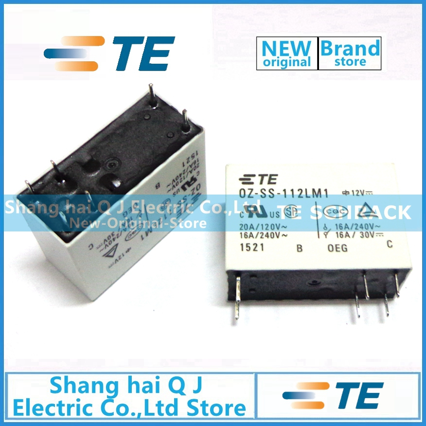 TE TYCO OEG relay 10pcs <font><b>OZ</b></font>-<font><b>SS</b></font>-<font><b>112LM1</b></font> 12VDC relay 100% Brand new and original image