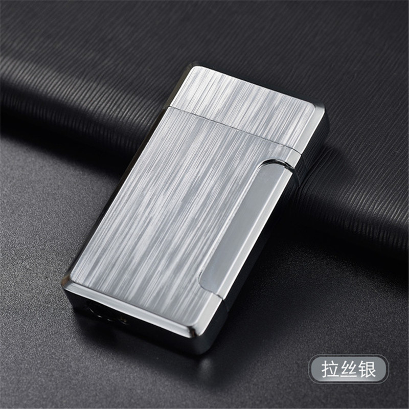 Image 2 - 2019 New Pipe Lighter Torch Turbo Lighter Jet Butane Metal Lighter Bussiness Cigarette 1300 C Fire Windproof No Gas-in Matches from Home & Garden