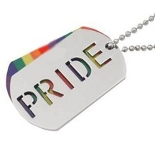 LGBT Double Tag Colorful Titanium Steel Link Chain Necklace