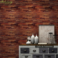 beibehang Waterproof Vintage 3D Retro brick Wallpaper Roll Modern Rustic Realistic Vinyl stone wall papers home decor wallpapers