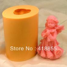 Food grade material silicon soap mold Cake decoration mold Cake mold manual soap mold Little angel NO:SO115 aroma stone moulds