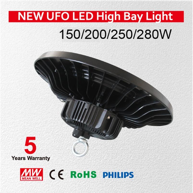 UFO 150W LED High Bay Light Fixture Daylight White SMD 3030 LED IP65 Waterproof for Garage