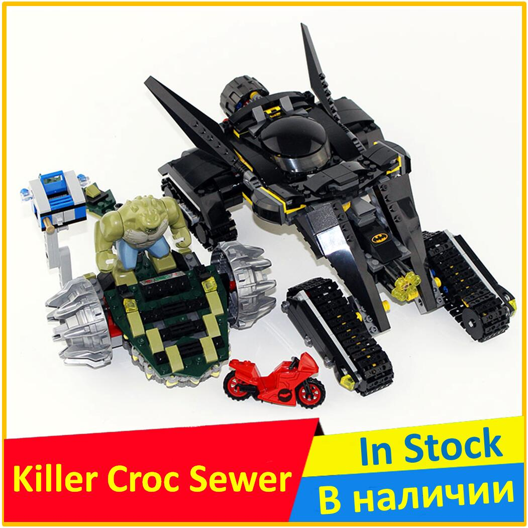 Killer Croc Sewer Smash 76055 Building Blocks Model 07037 Compatible legoes with Super Heroes Batman Figure Toys For Children 788pcs super heroes batman movie killer croc sewer smash bat tank 07037 model building blocks toys bricks compatible with lego