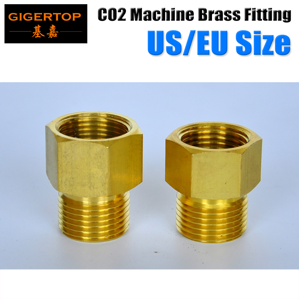 TIPTOP Co2 Jet Machine Spare Parts High Pressure Gas Hose Co2 Brass Fitting Connector Big/Small 21.4mm/20mm Diameter Co2 Jet tiptop stage light co2 jet machine solenoid valve with brass fitting suit for co2 club cannon 100v 240v carbon dioxide generator