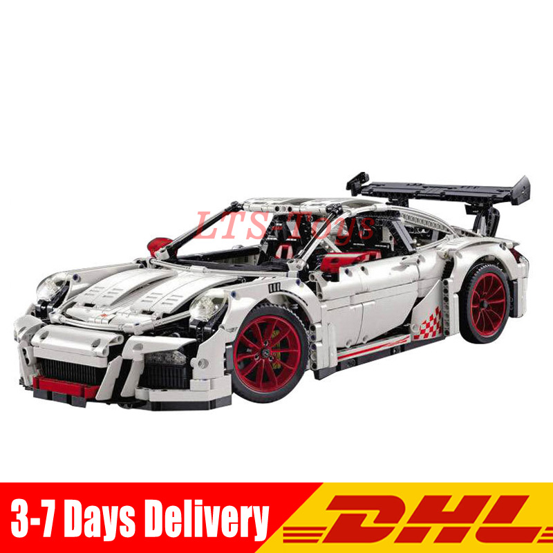 IN Stock DHL LEPIN 20001B Technic Series Race Car Model Building Kits Blocks Bricks Compatible 42056 Boys Gift Educational Toys in stock lepin 02012 774pcs city series deepwater exploration vessel children educational building blocks bricks toys model gift