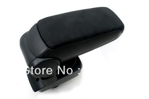 Center Console Armrest (Leatherette Black) For Ford Fiesta 2009-2012
