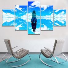 Wall Art Decor Modular Framework Canvas Print Anime Painting 5 Panel Tokyo Ghoul Character Reflection Poster Home