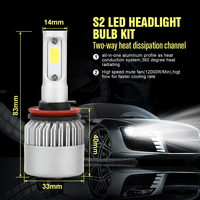CROSS TIGER Car LED Headlight With 3 Sides Lights 10000LM Cree Lamp H1 H3 H4 H7