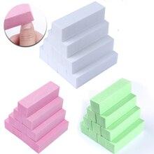 10 шт. розовый зеленый белый шлифовальная Губка ногтей Полировщики для ногтей Файлы Блок шлифовальный маникюр с полировкой ногтей инструмент