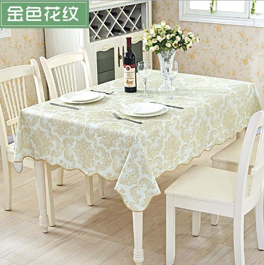 LYN&GY Elegant Floral Printed Table Cover Hotel Home Banquet table PVC Waterproof Table Cloth Style Plaid Tablecloth Decorative